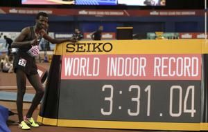 Tefera sets indoor world record in 1,500m
