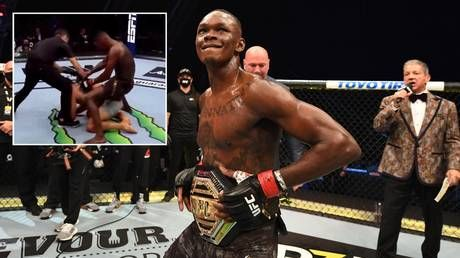 'The DISRESPECT!': Israel Adesanya 'air humps' stricken rival Paulo Costa after brutal TKO victory in UFC 253 title fight