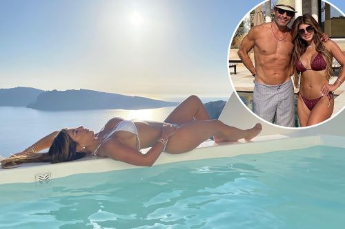 Teresa Giudice models bikinis and gushes over fiancé Luis Ruelas in Greece