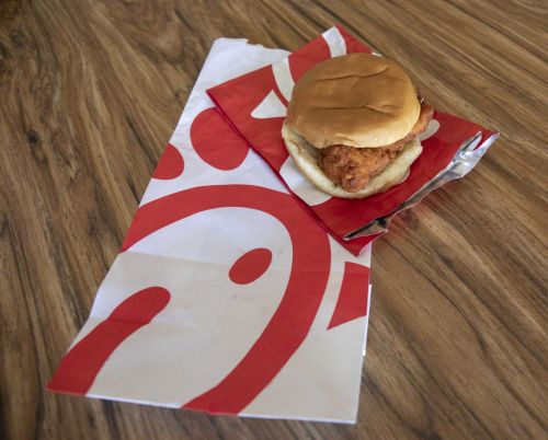 Chick-Fil-A employees gave away sandwiches to drivers trapped by Imelda's floodwaters