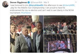 Does Denver Riggleman Approve of Supporter Jerry Falwell Jr.'s COVID-19 Response?