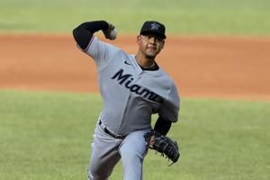 Marlins win again, blank Orioles 1-0 in doubleheader opener