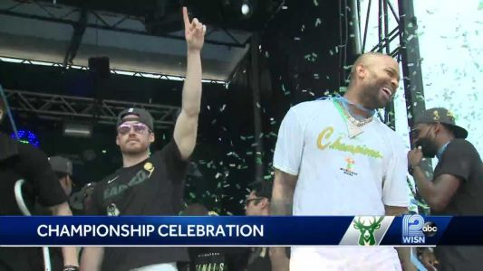 Two Bucks stars say sharing celebration with fans was best part of day