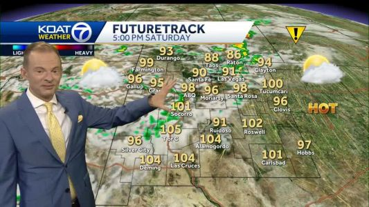 Scorching heat & gusty storms