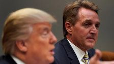 Jeff Flake Threatens To Block Judicial Nominations Over Trump's Tariffs