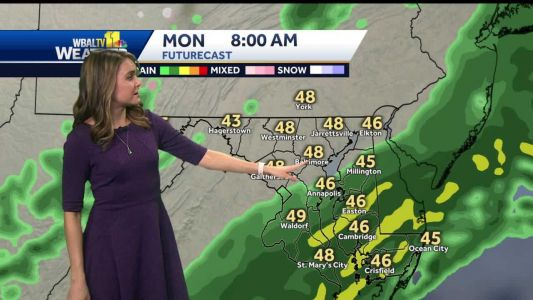 Soggy Monday morning ahead of sunny week