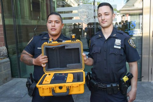 NYPD cops save marathon trainee's life in Central Park