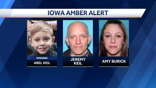 State of Iowa issues an Amber Alert for a missing 5-year-old Iowa boy