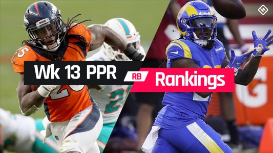 Fantasy Football PPR Rankings Week 13: Running back