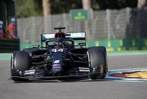 Bottas edges teammate Hamilton for pole in F1's Imola return