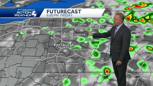 Isolated showers or storms possible Friday