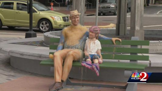 Melting wax sculpture placed in Orlando to show impacts of climate crisis