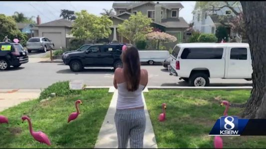 """Family surprises mommy-to-be with """"drive-thru baby shower"""" in Santa Cruz"""