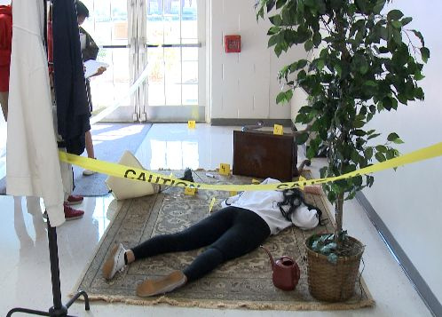 CAL students encounter fake crime scene on first day of school
