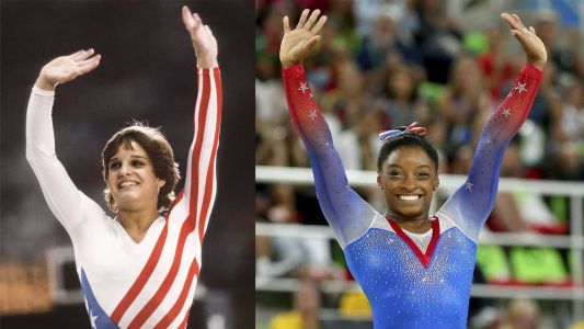 See how much Team USA's gymnastics uniforms have changed over the years