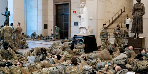 Hundreds of National Guard troops deployed to defend the Capitol have reportedly tested positive for COVID or are in quarantine