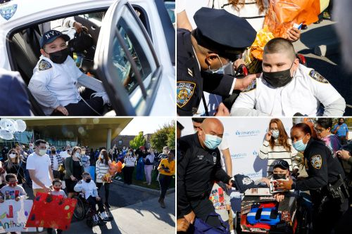 Miracle LI boy recovers from deadly lung condition, gets NYPD salute