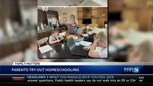 KCCI Family Matters: Iowa parents try their hand at homeschooling