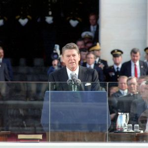 1980: Ronald Reagan is elected as the 40th president