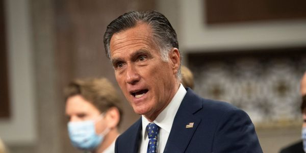 Mitt Romney rebuked some of his Republican Senate colleagues, calling January 6 Capitol riots an 'insurrection against the Constitution'