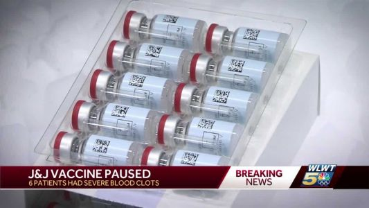 Johnson & Johnson vaccine on pause after rare blood clots found in 6 women