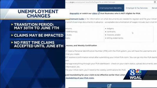 Transition to Pennsylvania's new unemployment compensation system will begin May 30