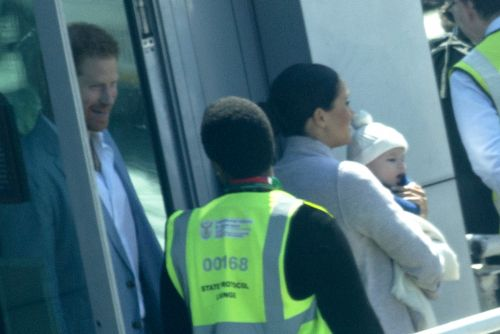 Meghan Markle and Prince Harry arrive in Africa with baby Archie