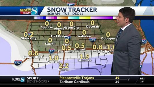Incoming system will bring snow to the southern part of the state