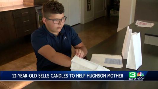 13-year-old sells candles to help Hughson mother diagnosed with lung cancer