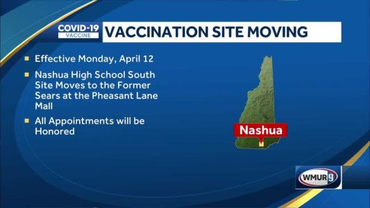 Vaccination appointments scheduled at Nashua High School South are relocating Monday