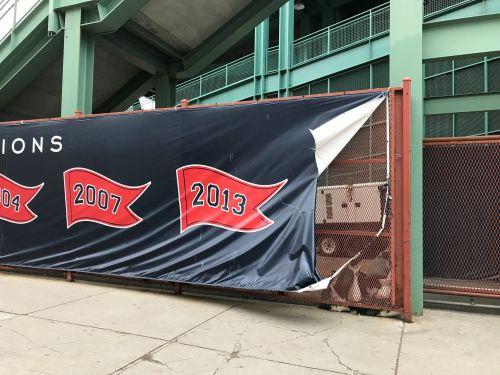 Police recover banner stolen from Fenway Park