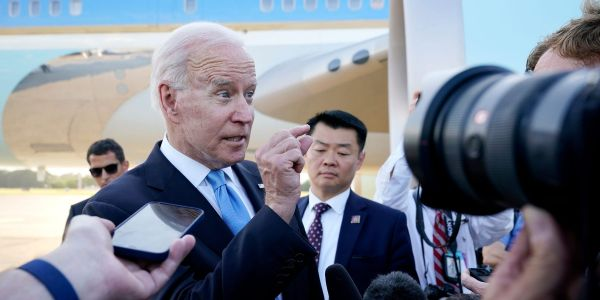Biden apologized for losing his temper when a CNN reporter pressed him on Putin, saying he 'shouldn't have been such a wise guy'