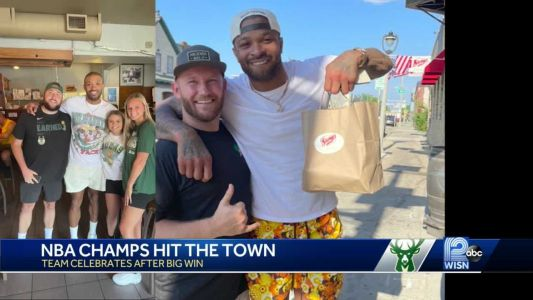 Bucks players hit the town after NBA championship