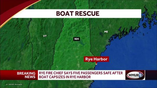 5 passengers are safe after small boat capsizes in Rye Harbor