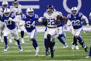 Henry leads into AFC South lead with 45-26 over Colts