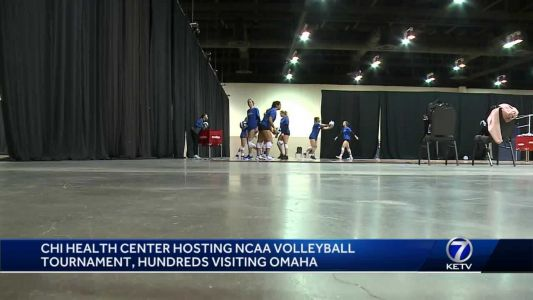 CHI Health Center hosting NCAA volleyball tournament, hundreds visiting Omaha