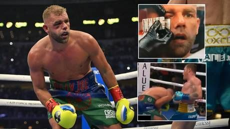 Battered Billy Joe Saunders 'still in hospital and set for surgery on shattered orbital bone' after beating by Canelo