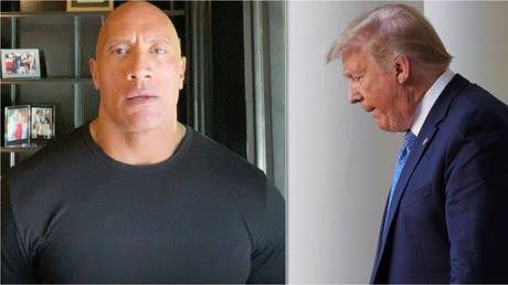 'The Rock for president!' Dwayne Johnson reignites calls for US leadership run as Hollywood superstar HAMMERS Donald Trump