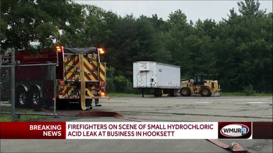 Firefighters respond to small hydrochloric acid leak at Hooksett business