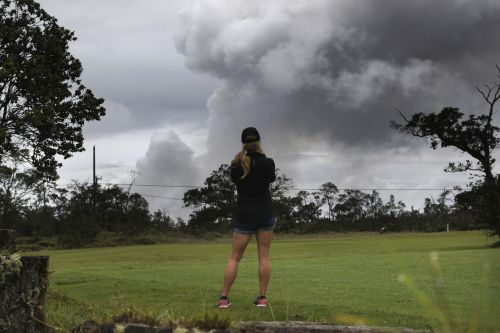 'Excited and scared': Hawaii volcano erupts anew, spews huge plume of ash into sky