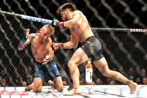 Henry Cejudo needed just 32 seconds to KO T.J. Dillashaw
