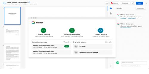 Cisco integrates with Box to reduce friction in WebEx collaborations