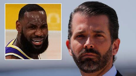Donald Trump Jr. slams fact-checkers after Instagram censors him over fake meme about his dad's nemesis - NBA legend LeBron James