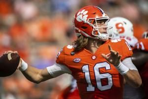 Clemson coach: QB Lawrence will not start vs. Notre Dame