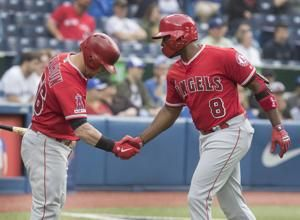 Upton homers, Trout has 4 hits, Angels beat Blue Jays 10-5