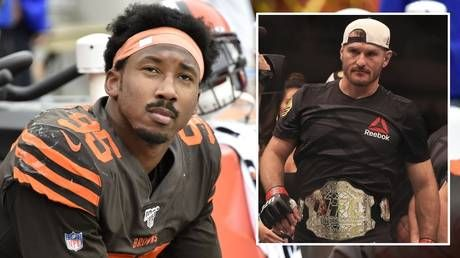 'I got you': UFC champ Stipe Miocic offers backup after Cleveland Browns star Myles Garrett is punched in the face by fan