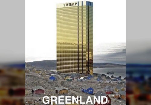 Trump vows not to build gold Las Vegas-style hotel in Greenland
