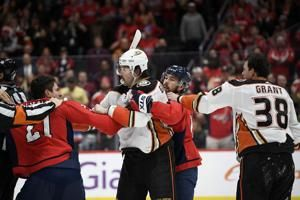 Capitals' Hathaway suspended 3 games for spitting