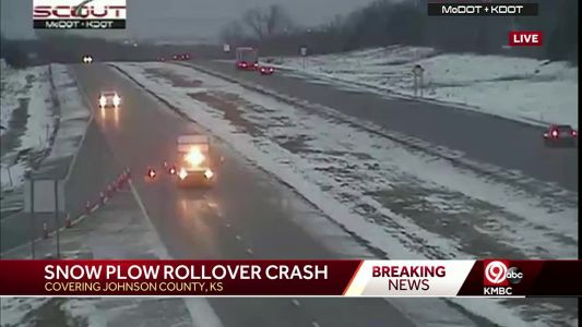 KDOT snow plow driver dies in crash early Saturday on U.S. 69