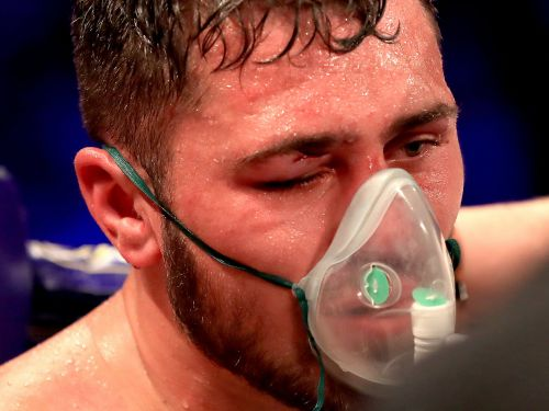 David Allen was given oxygen treatment, left the ring on a stretcher, and sent to hospital after his stoppage loss to the 6-foot-8 heavyweight David Price
